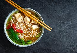 image miniature soupe épicée aux nouilles et au tofu