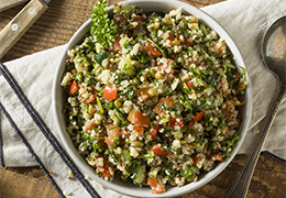 Image recette taboulé amarante quinoa aux petits légumes