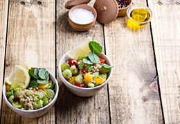 Image taboulé quinoa recette Jardin Bio