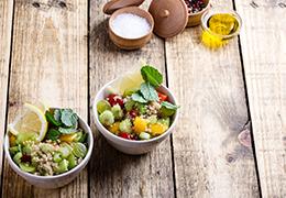 Image taboulé quinoa recette Jardin BiO étic