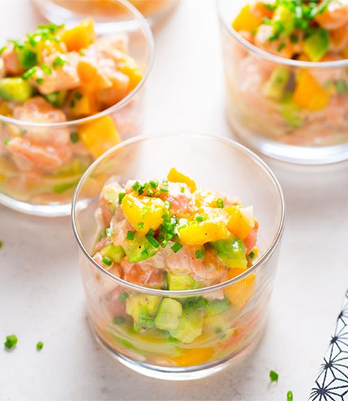 tartare saumon citron et lait de coco recette jardin bio