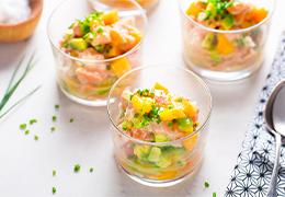 tartare saumon citron et lait de coco jardin bio