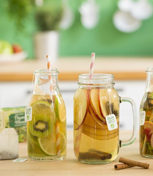 Recette eau healthy Jardin BiO