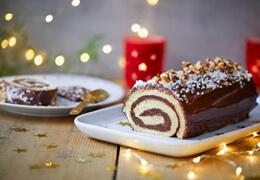 Recette de bûche de Noël à la pâte à tartiner bio