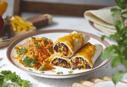 Recette de burritos végétariens Jardin BiO étic