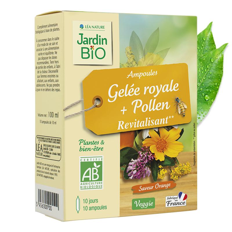 Ampoules gelée royale et pollen revitalisant