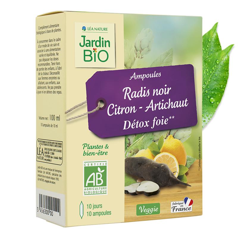 Ampoules radis noir citron – artichaut détox foie