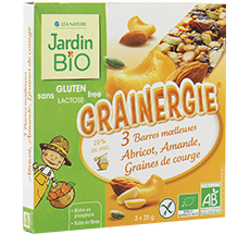Barres moelleuses  GRAINERGIE® abricot