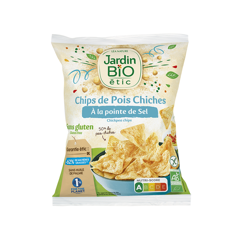 Chips de pois chiche nature sans gluten