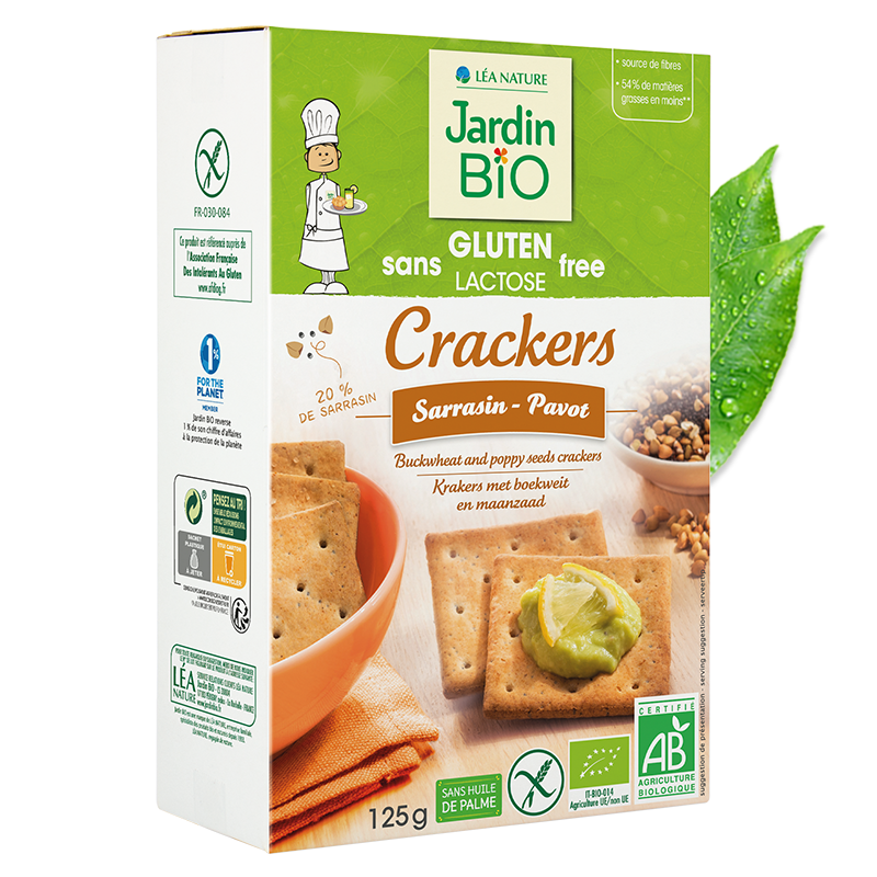 Crackers sarrasin pavot