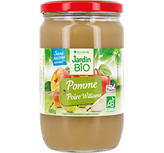 Dessert Biofruit® pomme poire williams