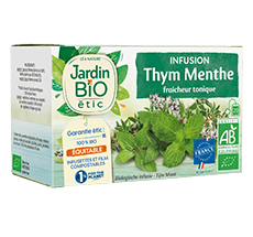 Infusion  thym et menthe