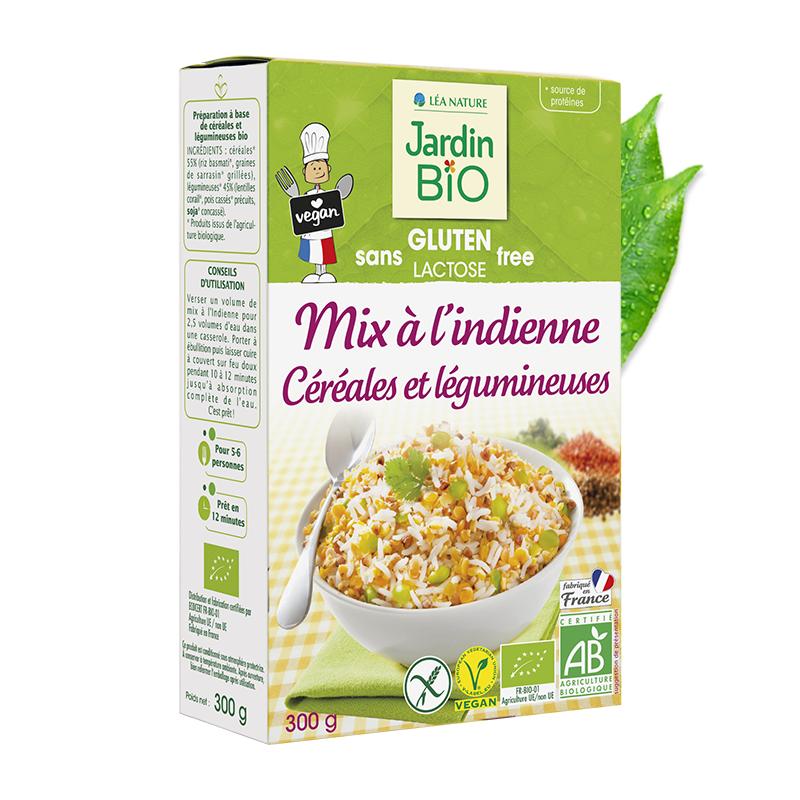 Mix à l'indienne céréales et légumineuses