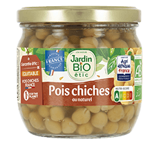 Pois chiches au naturel