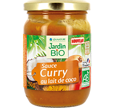 Sauce curry  au lait de coco