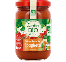 Sauce tomate bio pour spaghetti format individuel – 200g