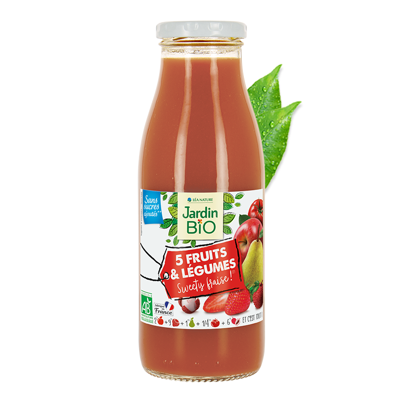 Smoothie 5 fruits et légumes Sweety fraise