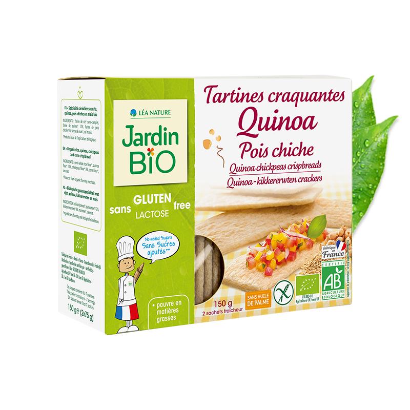 Tartines craquantes au quinoa pois chiche sans gluten