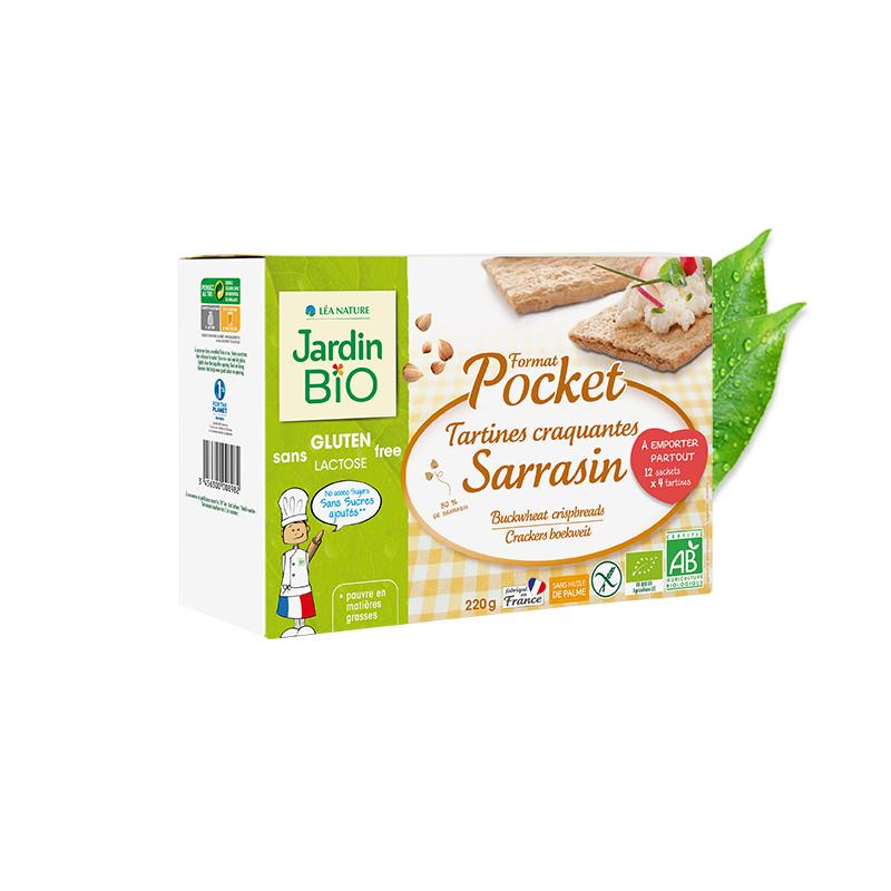 Tartines craquantes Sarrasin sans gluten -pocket